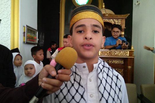 Dai cilik asal Palestina berbagi ilmu di Makassar