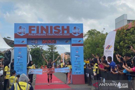 Jauhari Johan kembali juarai Palembang Triathlon 2020