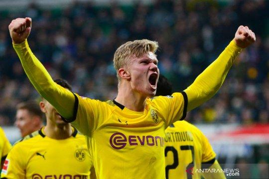 Haaland kembali pamer ketajaman saat Dortmund tundukkan Bremen