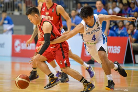 Indonesia dibekuk Filipina 70-100 di laga kedua kualifikasi FIBA Asia