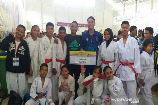 Tim karate Sulteng raih sembilan medali di kejuaraan Kajati Sulut