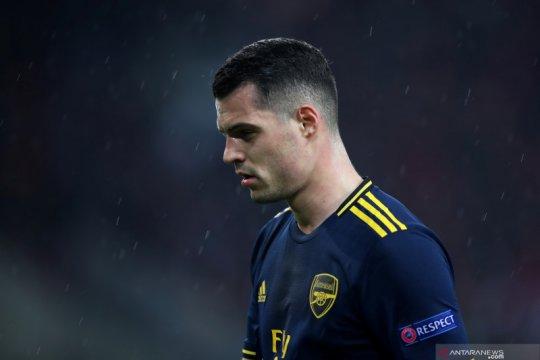 Granit Xhaka akui enggan jadi kapten Arsenal lagi