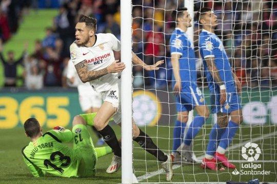 Sevilla sodok tiga besar berbekal kemenangan di kandang Getafe