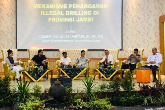 Direskrimsus Polda Jambi paparkan penanganan pengeboran minyak ilegal