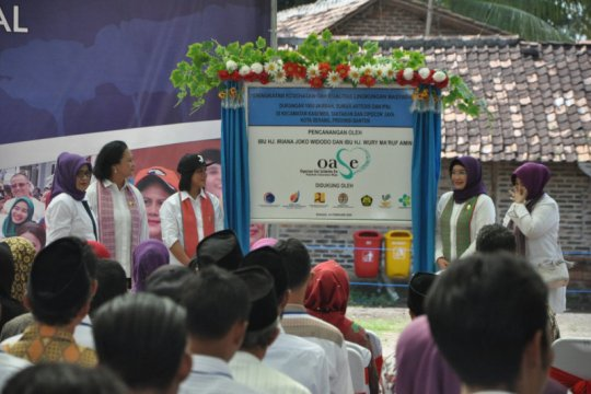 Lokasi pembangunan 1.000 jamban di Banten dikunjungi Ibu Negara