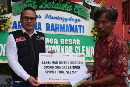 ACT santuni keluarga Pramuka korban hanyut Sungai Sempor