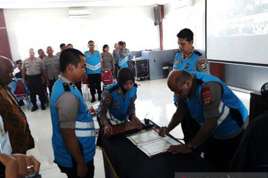 Ratusan putra daerah Papua Barat menjalani seleksi Bintara Polri