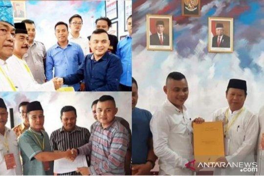 Tiga pasangan jalur perseorangan mendaftar ke  KPU Tanjungbalai