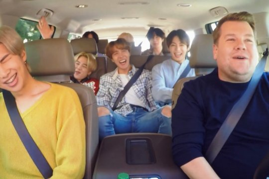 BTS menyanyikan lagu Post Malone di Carpool Karaoke James Corden