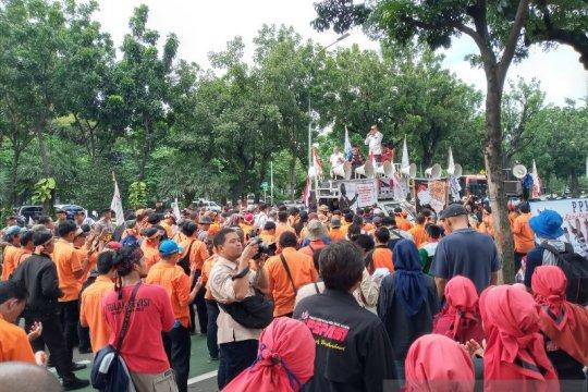 Aksi demo di Kementerian BUMN berakhir, ini pesan para pendemo