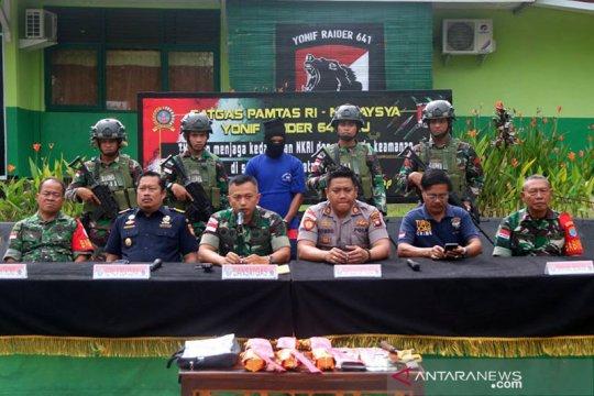 Satgas Pamtas serahkan proses hukum penyelundupan sabu ke Polda Kalbar