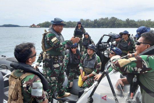 Kopaska gelar patroli pengaman laut di Pulau Sebaru Kecil