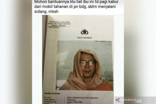 Seorang tahanan wanita di Bandung kabur saat hendak disidang