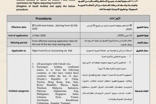 Arab Saudi berlakukan larangan umrah hingga 13 Maret 2020