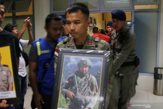 Jenazah anggota Brimob Polri korban KKB di Papua