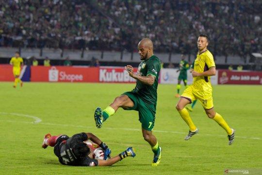 David da Silva-Persebaya beda sikap soal kelanjutan Liga 1
