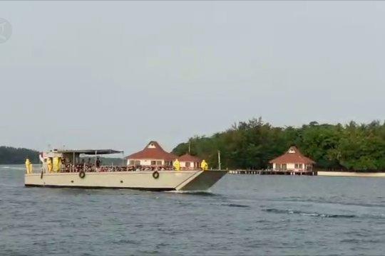 188 ABK World Dream tiba di Pulau Sebaru Kecil