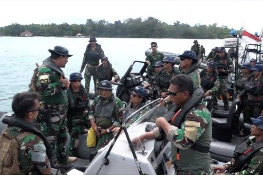 Kopaska patroli pengamanan laut di perairan Pulau Sebaru Kecil