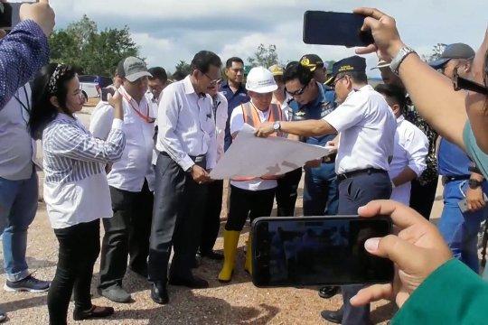 Tim perencanaan Kementerian Perhubungan tinjau lokasi Newport of Pangkalbalam