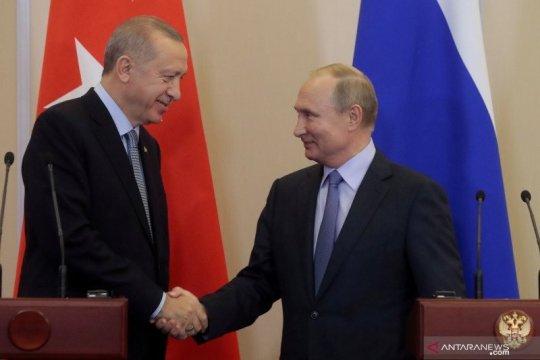 Putin, Erdogan mulai bicarakan gencatan senjata di Suriah