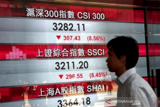 Saham Hong Kong dibuka merosot, indeks Hang Seng turun 0,54 persen