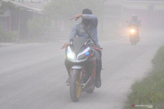 Wilayah timur lereng Merapi di Sleman dilanda hujan abu