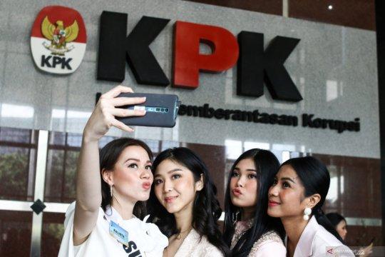 Finalis Puteri Indonesia sambangi KPK untuk pembekalan antikorupsi