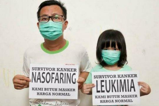 "Ayah-anak penyintas kanker resah akibat harga masker ""selangit"""