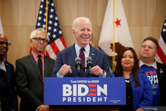 Pertarungan capres AS dari Demokrat, Biden unggul dari Sanders