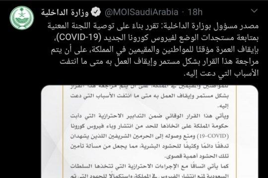 Kemdagri Saudi perpanjang waktu moratorium umrah jika diperlukan