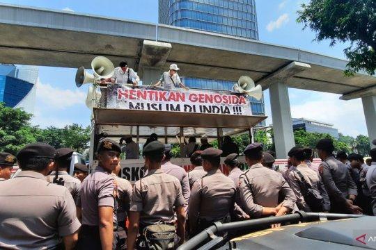Pengamanan humanis polisi kawal aksi solidaritas muslim India
