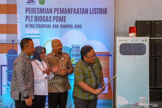 Peresmian PLT Biogas Pome