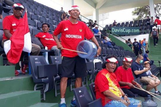 Corona tak surutkan suporter dukung Indonesia pada Piala Davis