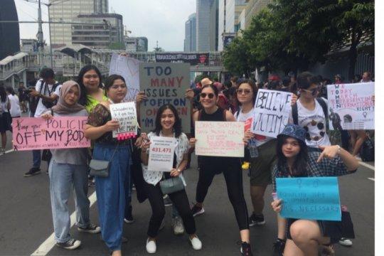 Rayakan Hari Perempuan Internasional, Hannah Al Rashid lakukan aksi