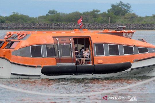 Kapal pesiar Viking Sun turunkan penumpang di Benoa Bali