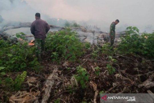 Prajurit TNI maksimalkan pemadaman kebakaran gambut di Aceh Jaya
