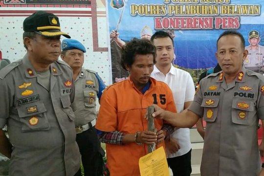 Polres Belawan ringkus tersangka pembunuhan penjaga tambak