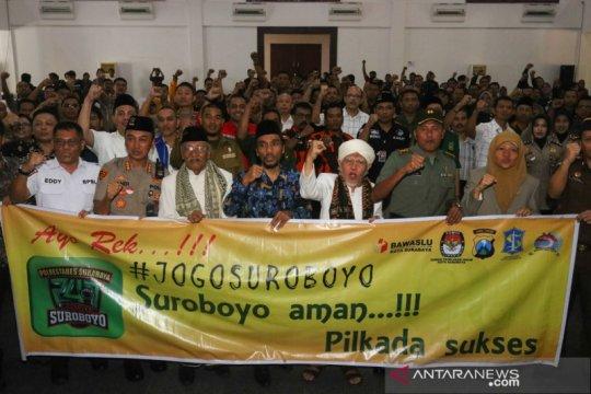 "Polrestabes Surabaya deklarasi ""Jogo Suroboyo"" serukan Pilkada damai"