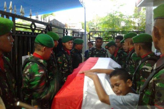 Jenazah prajurit TNI korban penembakan di Papua