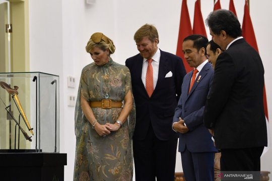 Presiden Jokowi terima keris Pangeran Diponegoro dari Raja Belanda