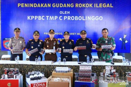 Bea Cukai Probolinggo amankan rokok ilegal senilai Rp2,5 miliar