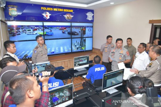 Polres Bekasi mulai uji coba tilang elektronik