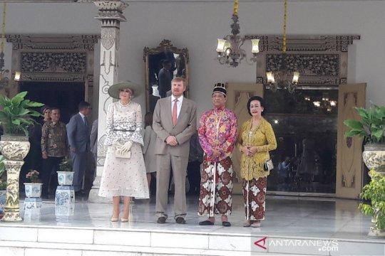 Raja dan Ratu Belanda temui Sultan HB X di Keraton Yogyakarta