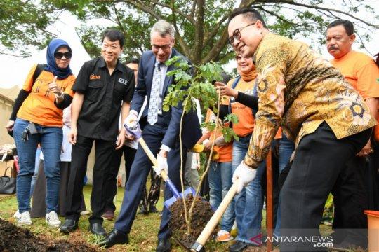 Wakil Menteri Pertanian Belanda dan Rektor IPB tanam pohon