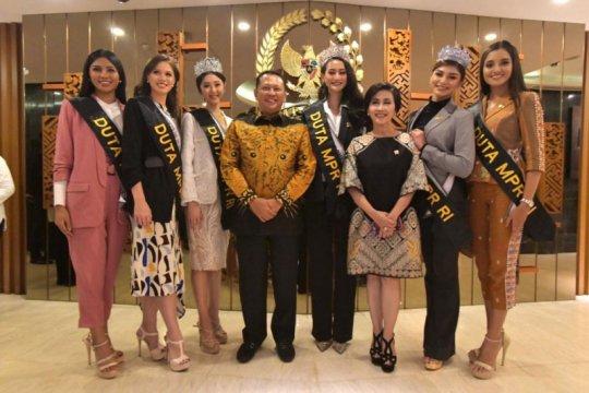 MPR angkat finalis Putri Indonesia jadi Duta Empat Pilar