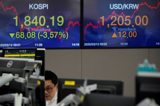 Saham Korsel terus merosot, Indeks KOSPI jatuh lagi 0,81 persen