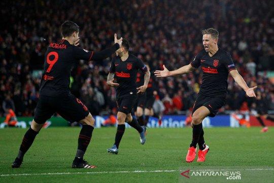 Atletico runtuhkan Anfield, cuma butuh separuh agresivitas Liverpool