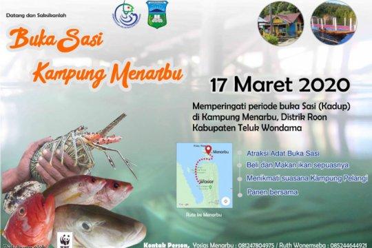 Kampung Menarbu Wondama adakan pesta ikan melalui Buka Sasi