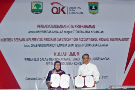 Nota kesepahaman OJK dan Universitas Andalas