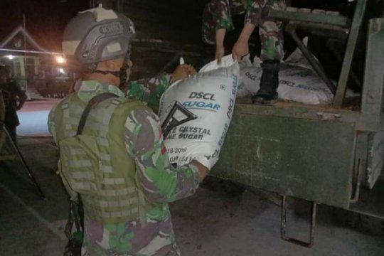 Satgas Pamtas RI dan Malaysia amankan 1.350 kilogram gula ilegal